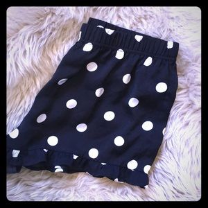 Silly polka dot sleep shorts